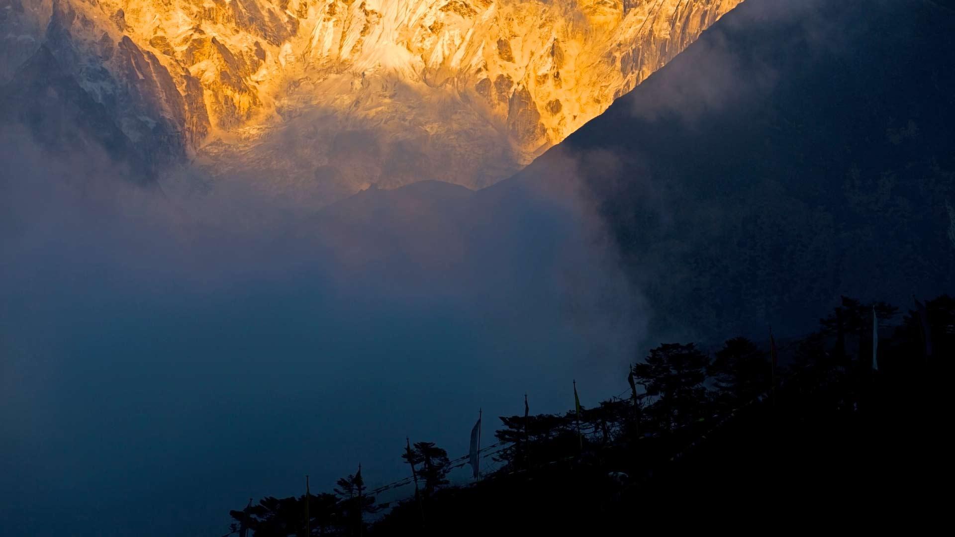 Klosterblick Tengboche im Everest-Gebiet, Himalaya